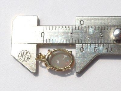 画像1: ライトニングリッジ産オパールK18ペンダントトップ