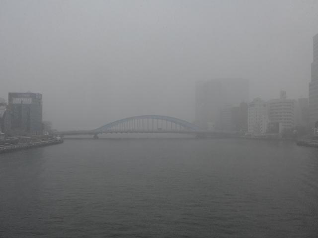 雪空の永代橋